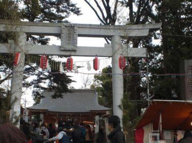 蕨城 蕨神社の鳥居