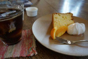 シフォンケーキと水出しコーヒー