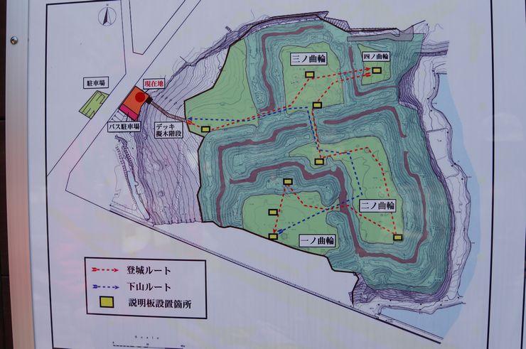 小坂城 縄張図
