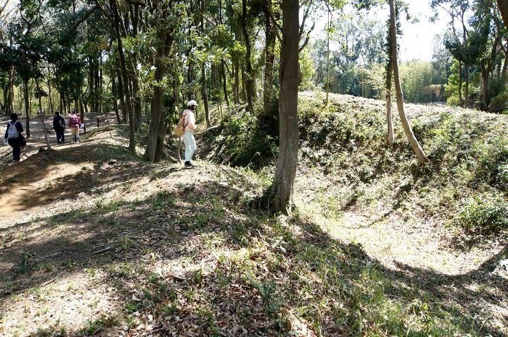 小坂城 土塁と空堀