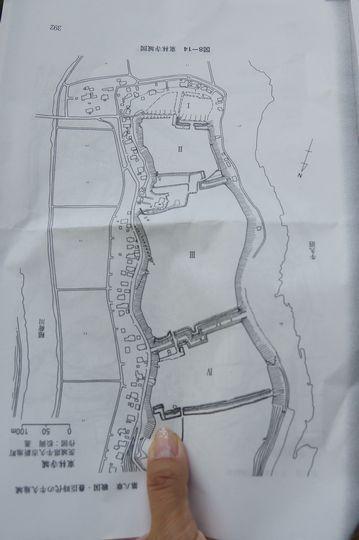 東林寺城 縄張図