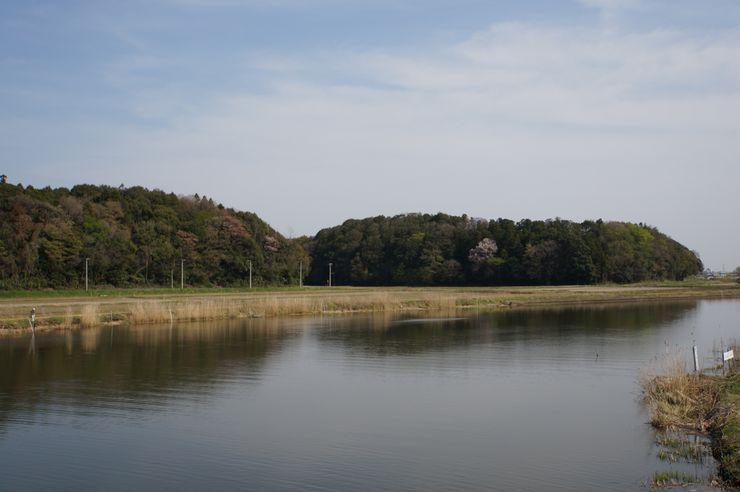 東林寺城から撮影した牛久陣屋