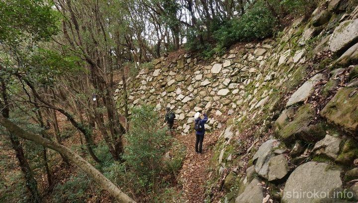 北二の丸 下段の高石垣