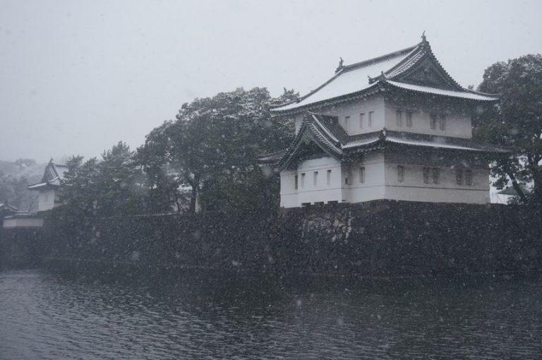 雪の江戸城 巽櫓