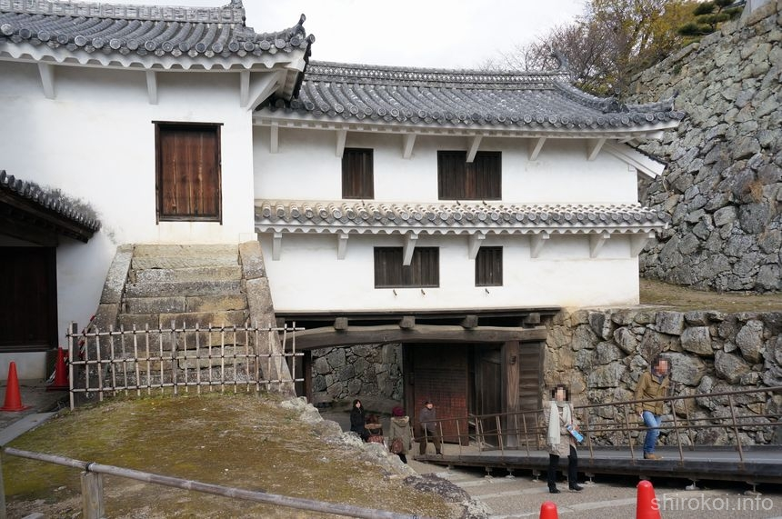 姫路城 「ぬの門」裏側