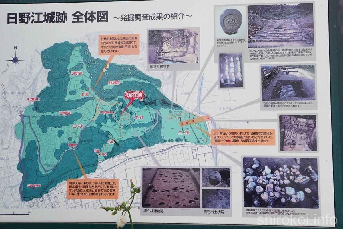 日野江城 全体図