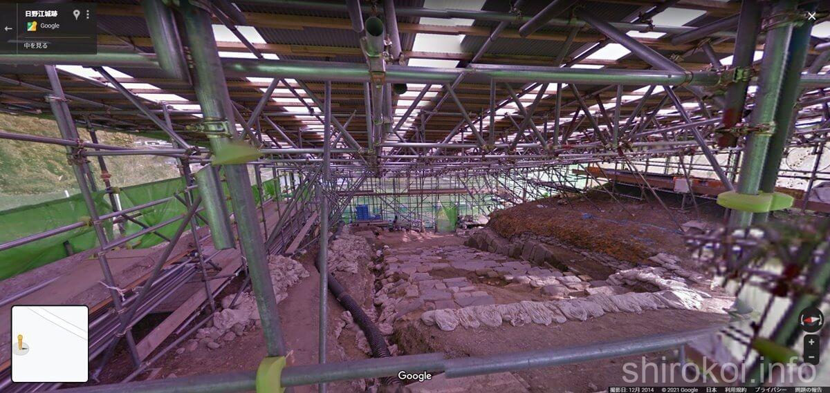 日野江城 階段遺構 発掘当時の様子 上から