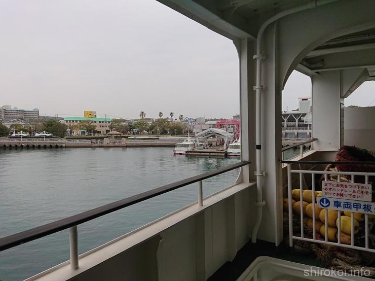 1時間の船旅で島原港に到着