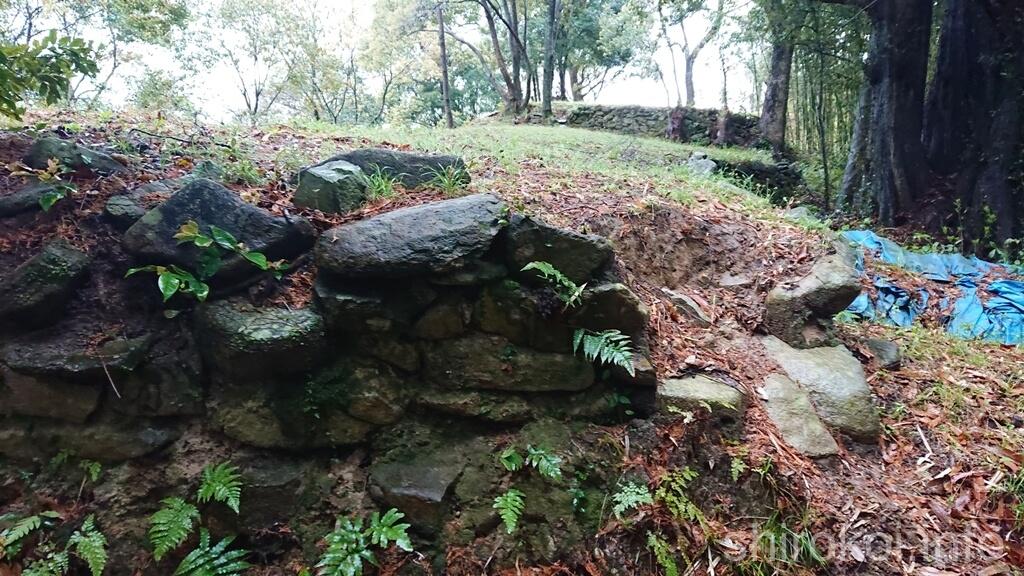 曲輪VIIの石積み