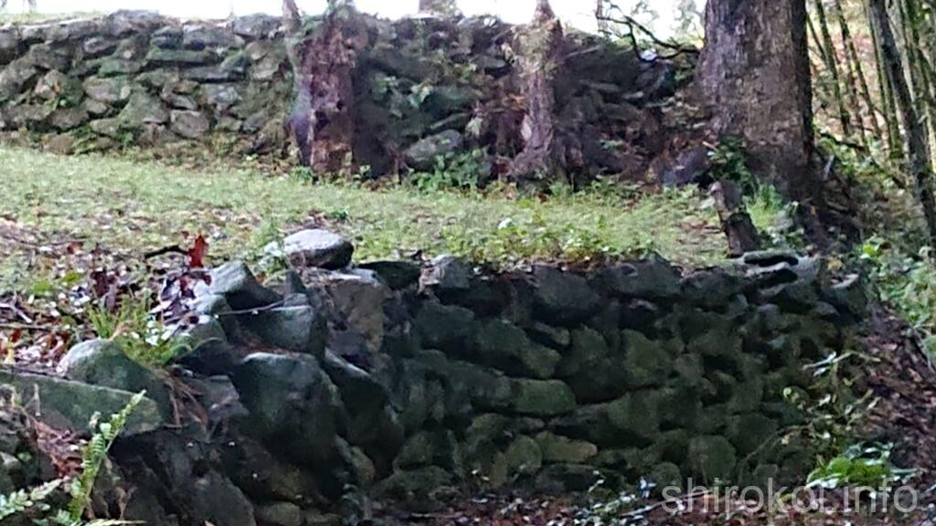 棚底城 曲輪VIIの石積み