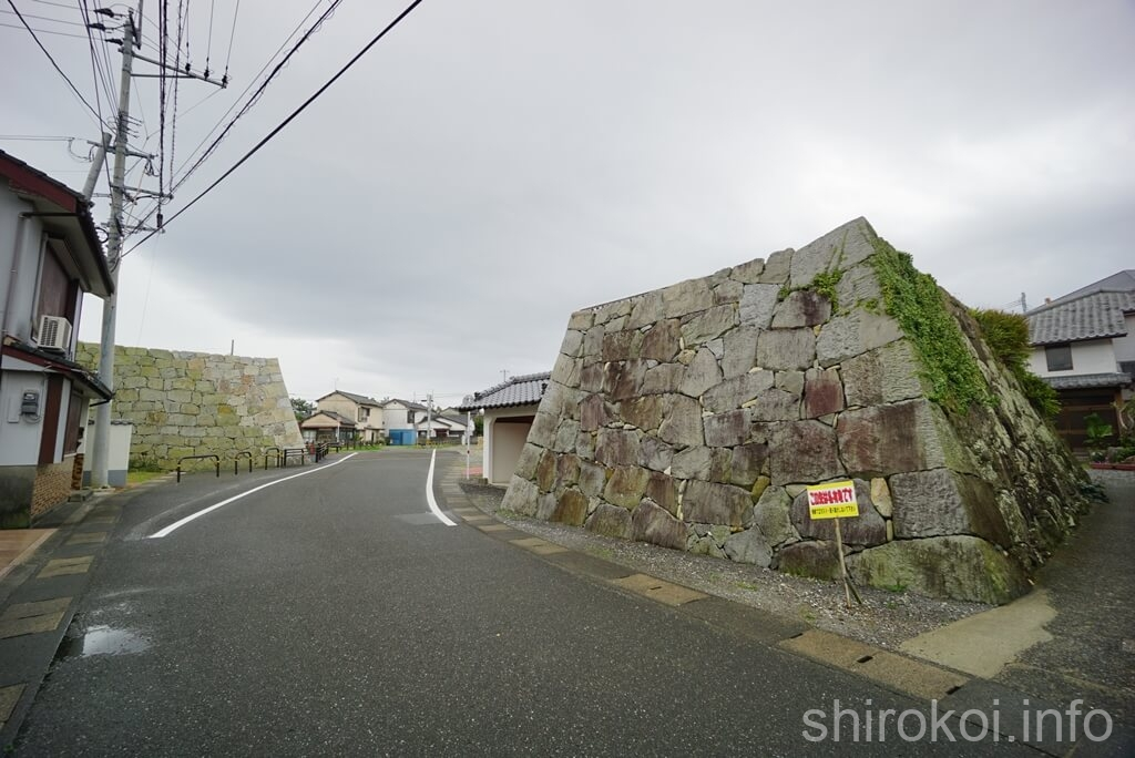 富岡城 大手門の先 城外を眺める