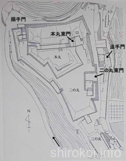 佐敷城 縄張図