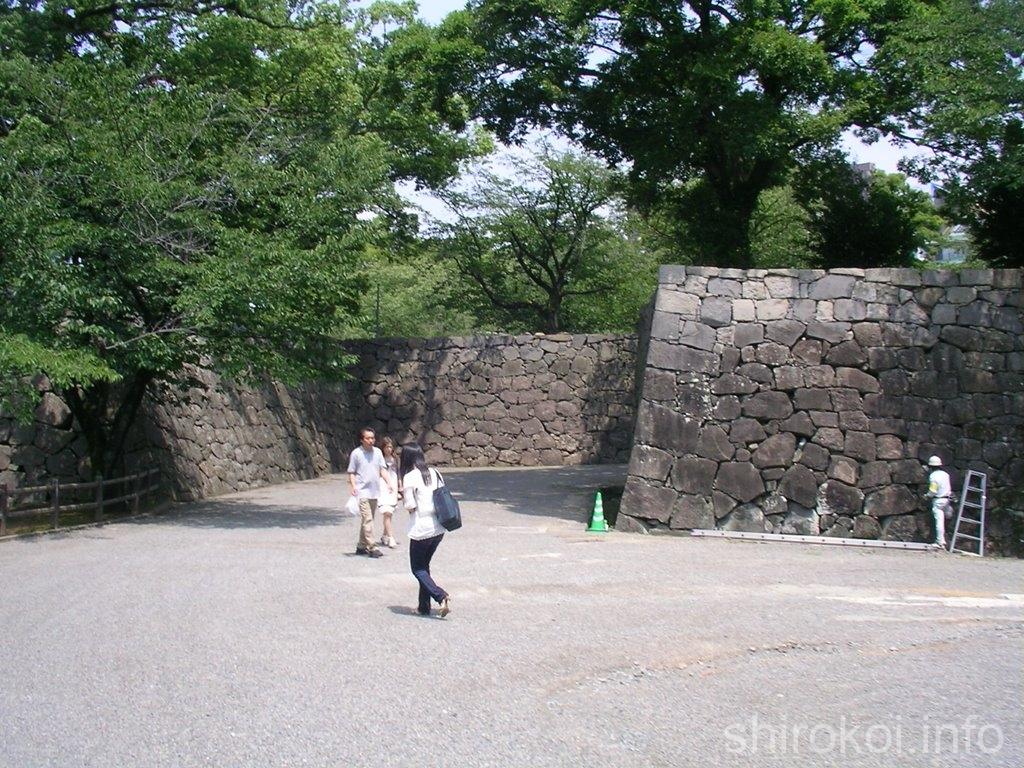 熊本城 馬具櫓手前の桝形