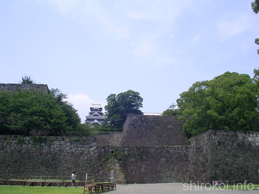 熊本城 竹ノ丸から眺める天守