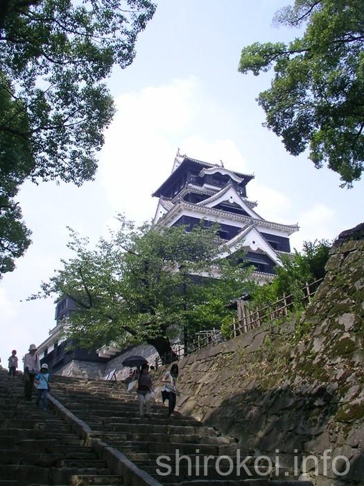 熊本城 大天守と小天守が見えてきた