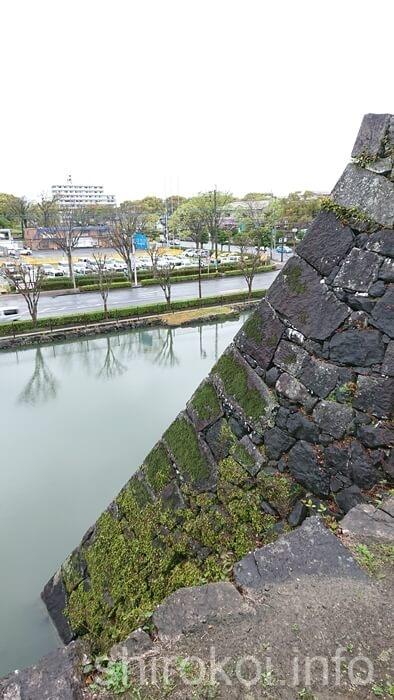 八代城 天守台の石垣